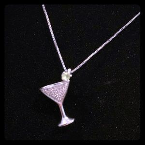 Sterling Silver Martini Necklace 🍸